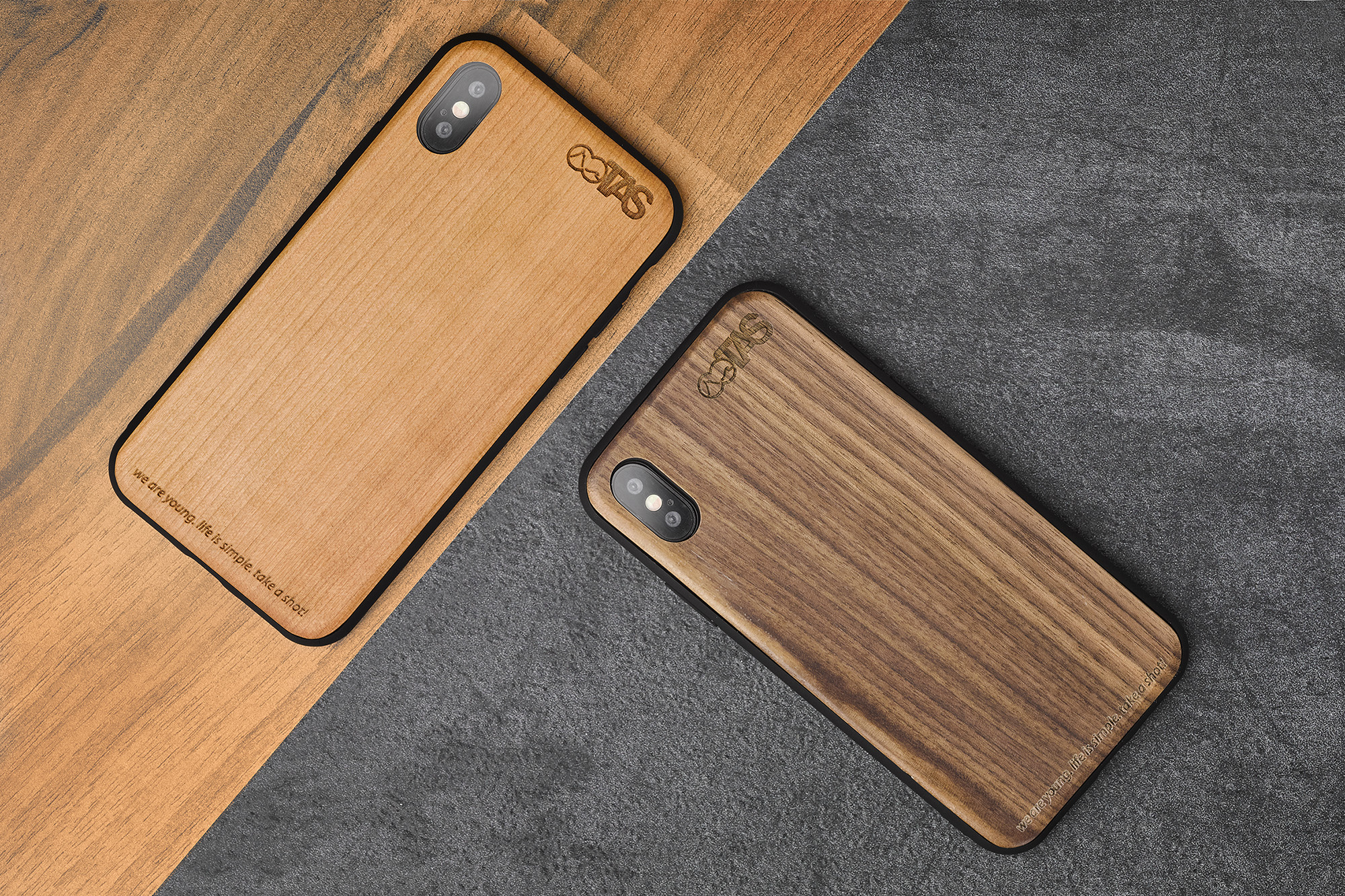 iPhone X / XS Cover aus Holz