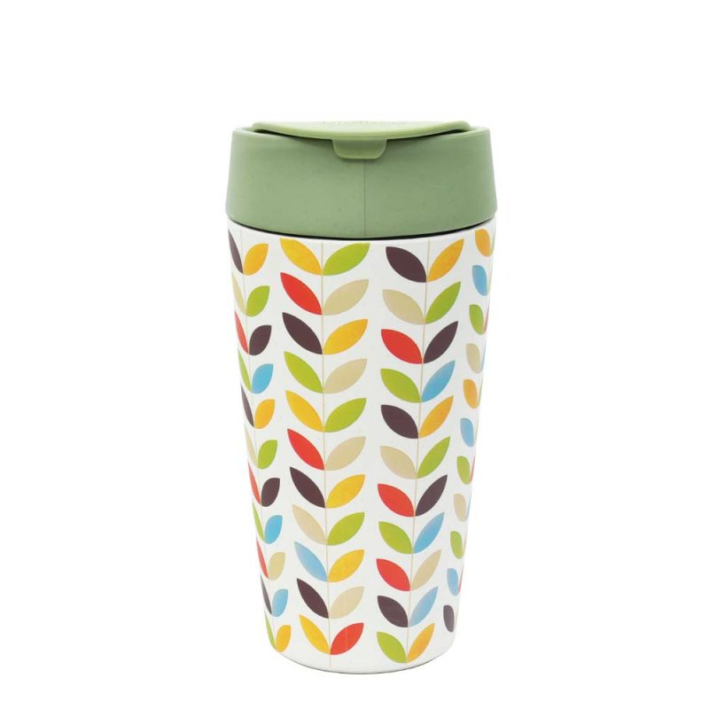 Kaffeebecher Bioloco Plant - Deluxe Cup 'Bright Leaves', 420ml